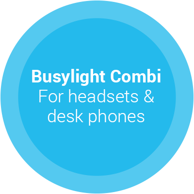 Busylight Combi for headsets and desk phones