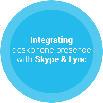 Integrating deskphone presence with Skype and Lync Slider