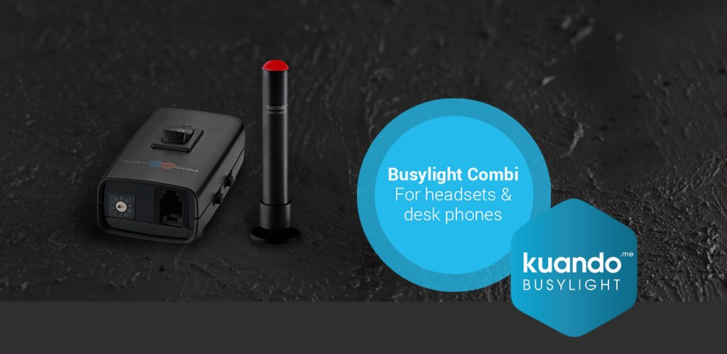 kuando Busylight Combi frontpage mobil slider with red alpha and combi