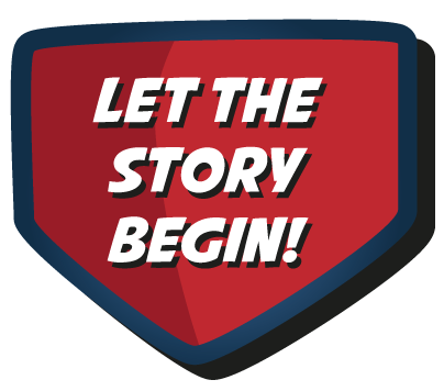 Let the story begin -Button - Superhero - Busylights