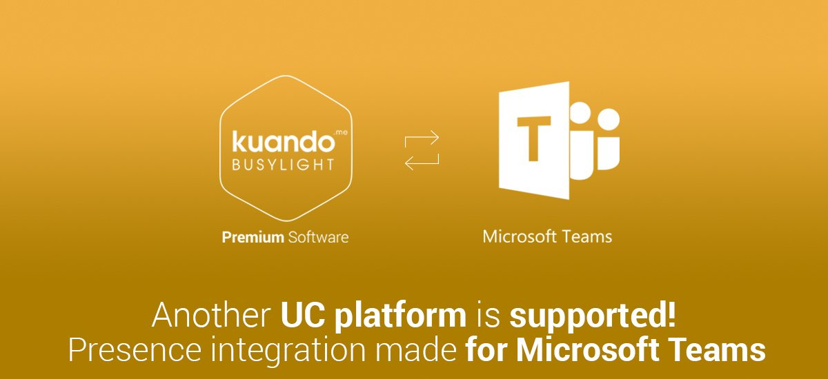 kuando Busylight Premium Software Microsoft Teams