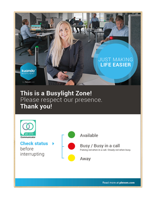 Busylight Poster UC One Communicator