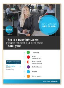 Avaya Cloud Office Poster Busylight
