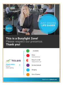 Telus Business Connect poster Busylight